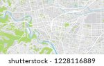 urban vector city map of sendai ... | Shutterstock .eps vector #1228116889