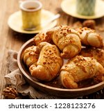 croissants with shortcrust... | Shutterstock . vector #1228123276