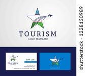 travel uzbekistan flag creative ...   Shutterstock .eps vector #1228130989
