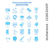 education blue tone icon pack   ... | Shutterstock .eps vector #1228132429