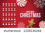 christmas countdown with... | Shutterstock .eps vector #1228136266