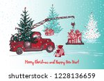 festive new year and christmas... | Shutterstock .eps vector #1228136659