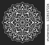 black and white round floral... | Shutterstock .eps vector #1228137226