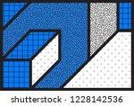 abstract universal geometric... | Shutterstock .eps vector #1228142536
