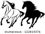 Raster   Running Horse Black...
