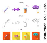 vector illustration of party... | Shutterstock .eps vector #1228143856