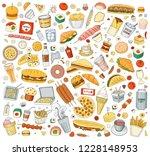 vector illustration cartoon... | Shutterstock .eps vector #1228148953