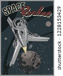 launch space rocket vintage... | Shutterstock .eps vector #1228153429