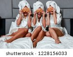woman in home spa | Shutterstock . vector #1228156033
