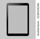 tablet on transparent... | Shutterstock .eps vector #1228156246