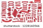 ribbons set isolated on white... | Shutterstock .eps vector #1228160566