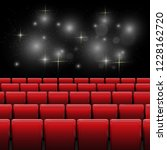 movie cinema screen with red... | Shutterstock .eps vector #1228162720
