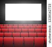 movie cinema screen with red... | Shutterstock .eps vector #1228162723