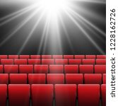 movie cinema screen with red... | Shutterstock .eps vector #1228162726