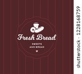 fresh bread retro style logo... | Shutterstock .eps vector #1228168759