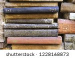 library background   wall with... | Shutterstock . vector #1228168873