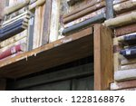 library background   wall with... | Shutterstock . vector #1228168876