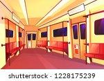 cartoon subway train empty... | Shutterstock . vector #1228175239