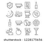 set of wine  beer and coffee... | Shutterstock .eps vector #1228175656