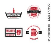 set of vintage logo  badge ... | Shutterstock .eps vector #1228177900