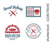 set of bakery and bread logos ... | Shutterstock .eps vector #1228178143