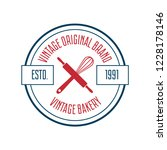 bakery and bread logos  labels  ... | Shutterstock .eps vector #1228178146