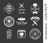 set of bakery and bread logos ... | Shutterstock .eps vector #1228178179