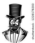 vector monochrome illustration... | Shutterstock .eps vector #1228178203