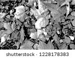 fall leaves. halftone with... | Shutterstock . vector #1228178383