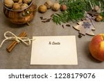 letter to santa with writing ...   Shutterstock . vector #1228179076
