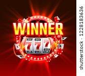 casino winner slots 777 banner. ... | Shutterstock .eps vector #1228183636
