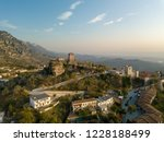 Aerial View Of Kruja Castle An...