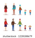 family members with winter... | Shutterstock .eps vector #1228188679