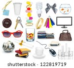 set of objects isolated on white | Shutterstock . vector #122819719