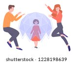 parents protect their child... | Shutterstock .eps vector #1228198639