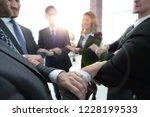 closeup. unified business team .   Shutterstock . vector #1228199533