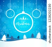 2019 christmas and happy new... | Shutterstock .eps vector #1228202230