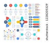 infographics diagrams....   Shutterstock .eps vector #1228205329