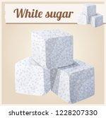 white sugar. detailed icon.... | Shutterstock . vector #1228207330