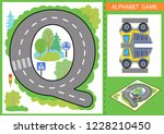 set letters with road and paper ... | Shutterstock .eps vector #1228210450