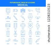 medical icons   futuro blue 25... | Shutterstock .eps vector #1228213123