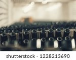 bottles of wine in the wine...   Shutterstock . vector #1228213690