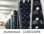 bottles of wine in the wine...   Shutterstock . vector #1228213696