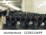 bottles of wine in the wine...   Shutterstock . vector #1228213699