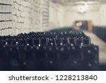 bottles of wine in the wine...   Shutterstock . vector #1228213840