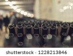 bottles of wine in the wine...   Shutterstock . vector #1228213846