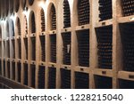 bottles of wine in the wine...   Shutterstock . vector #1228215040