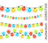 christmas lights isolated on... | Shutterstock .eps vector #1228217143
