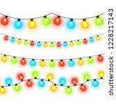 christmas lights isolated on... | Shutterstock .eps vector #1228217143