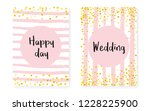 bridal shower card with dots... | Shutterstock .eps vector #1228225900